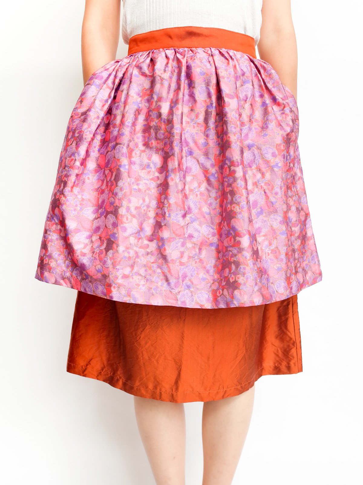 Double Skirt / pink flower