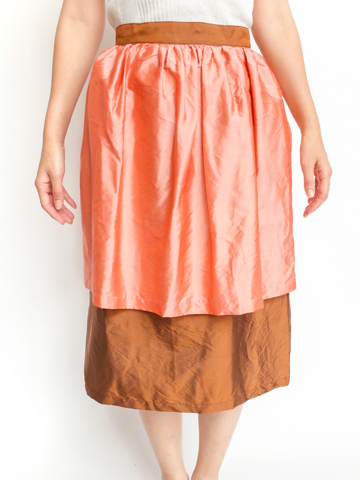Double Skirt / peach