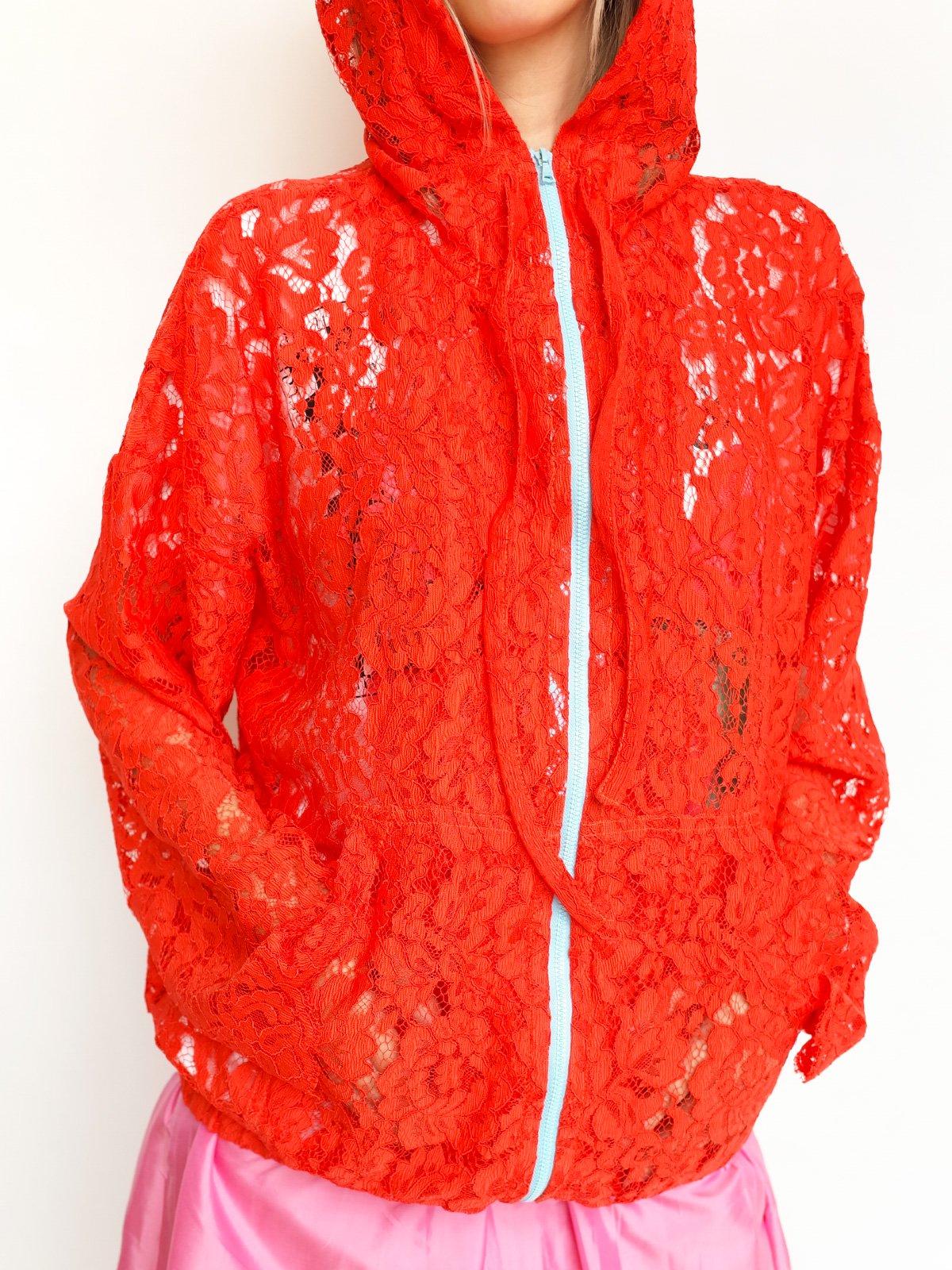 Hoodie Italian Lace / orange lace