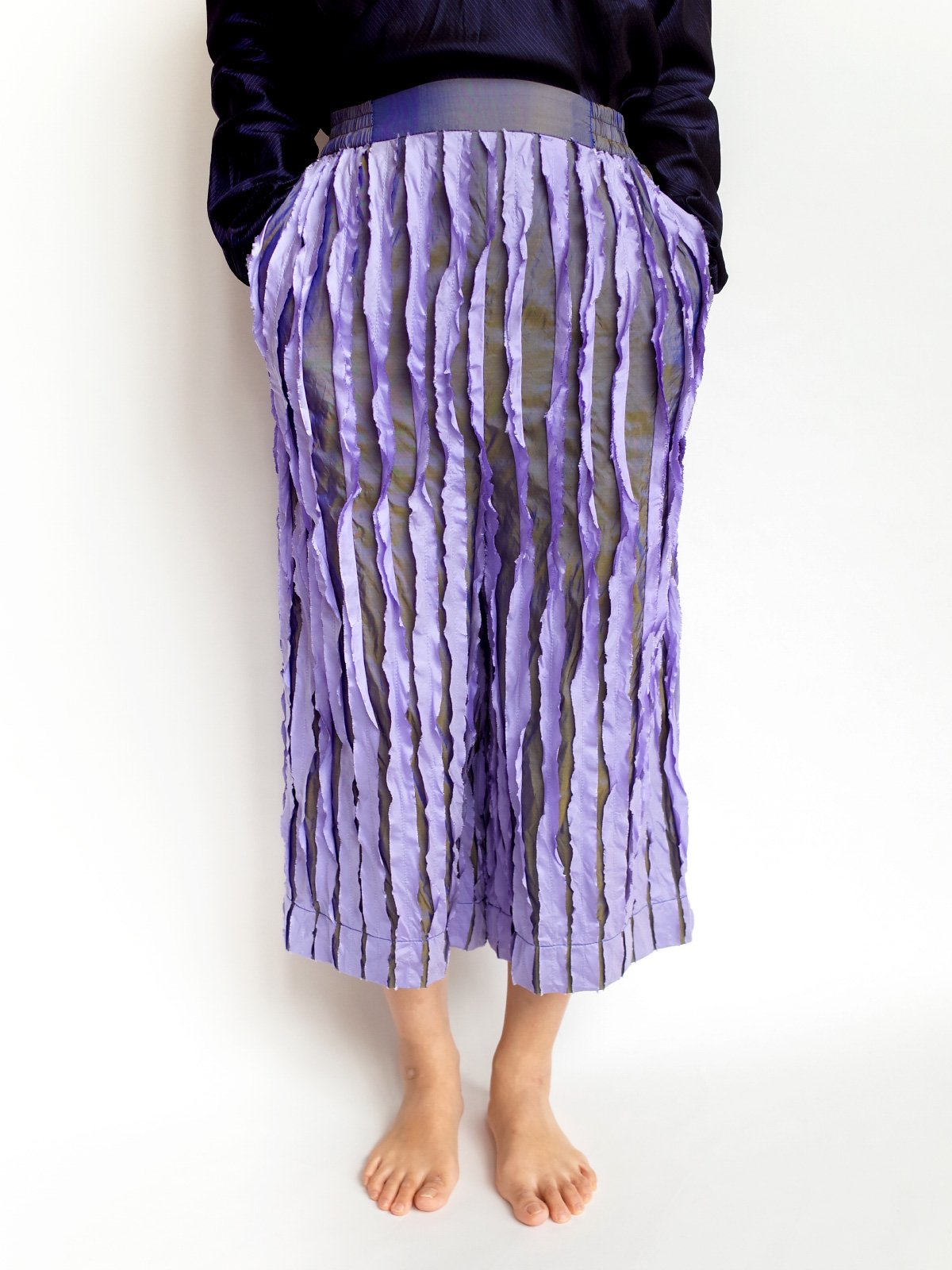 Ribbon Pants / lavender mix サムネイル
