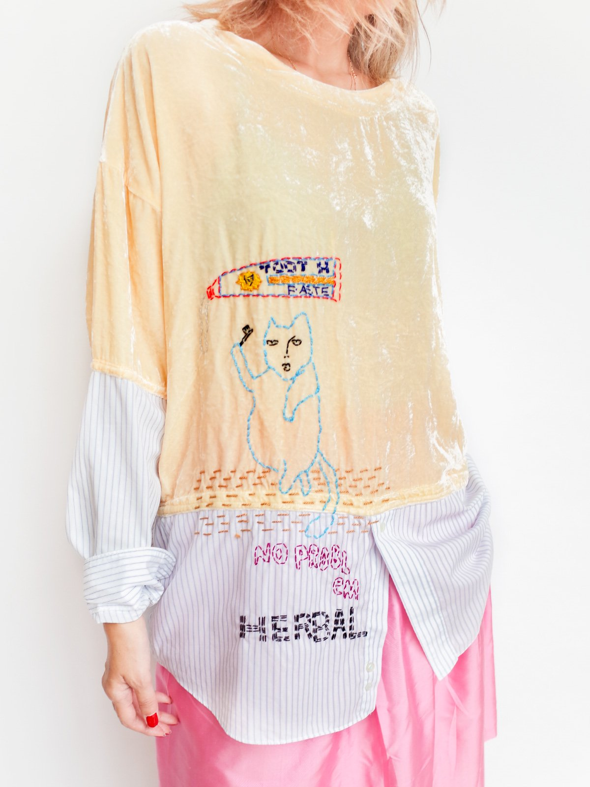 ari × mamarobot / Remake Velvet T + Shirts サムネイル