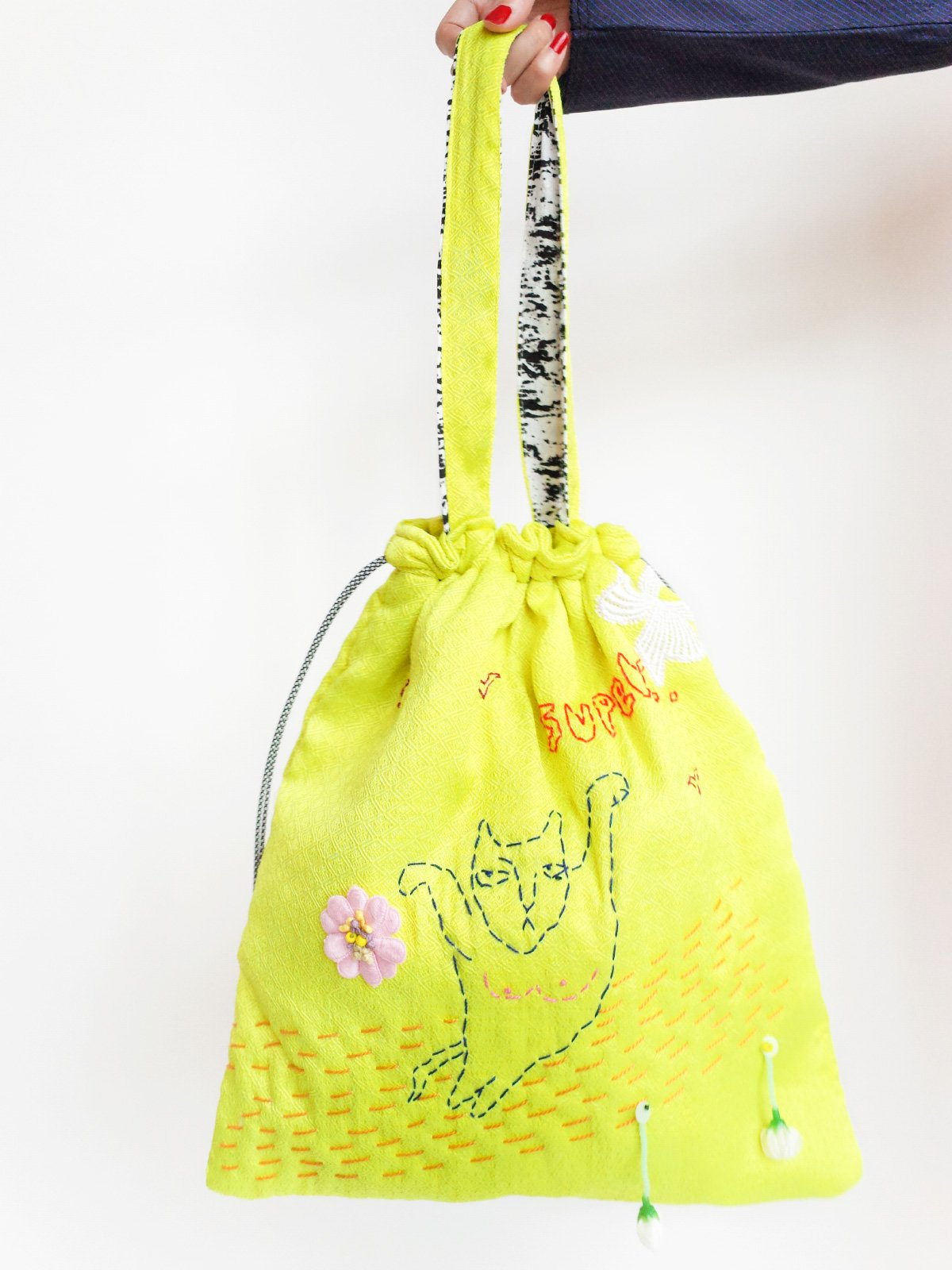 ari × mamarobot / Cat Bag yellow