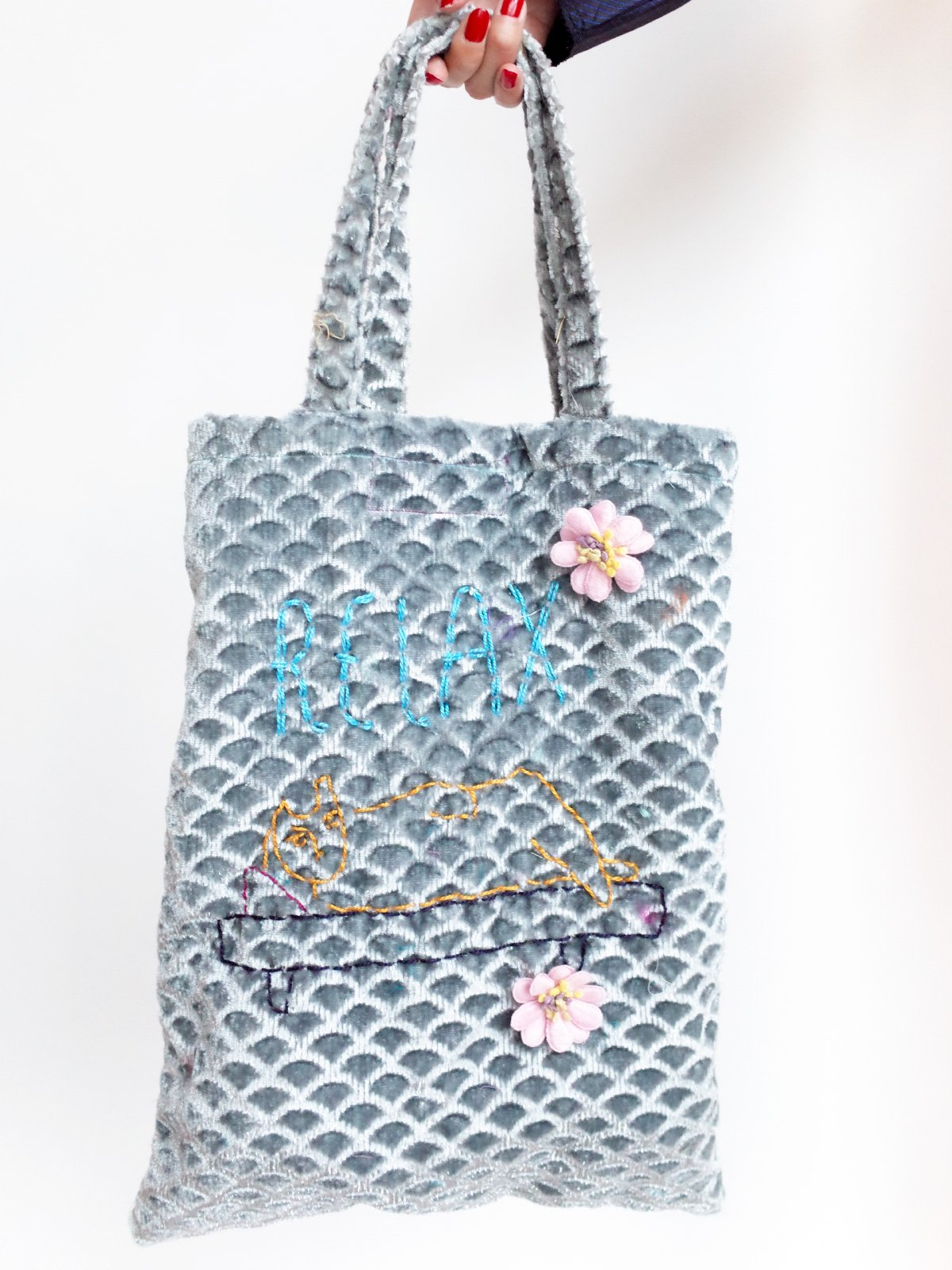 ari × mamarobot / Cat Bag / grey サムネイル