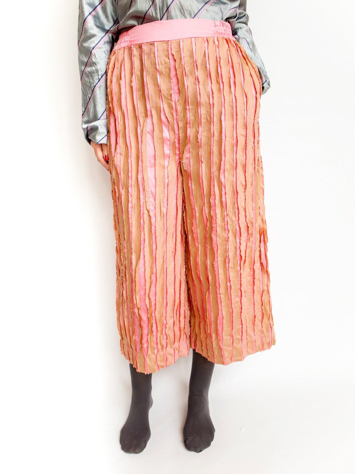 Ribbon Pants / pink mix