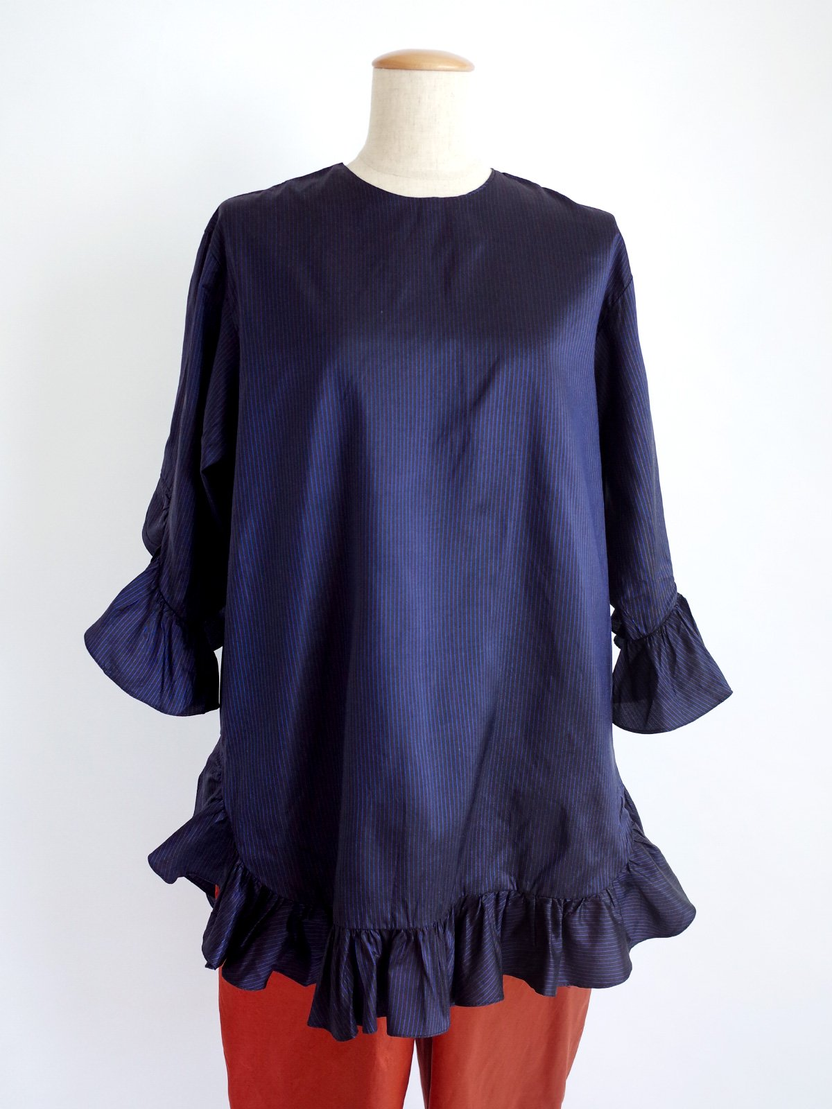 Fin Frill Tops / black stripe