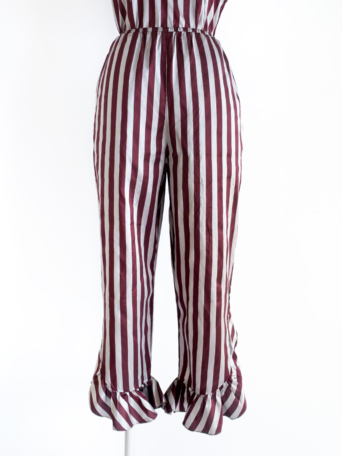 Fin Frill Pants / original bordeaux