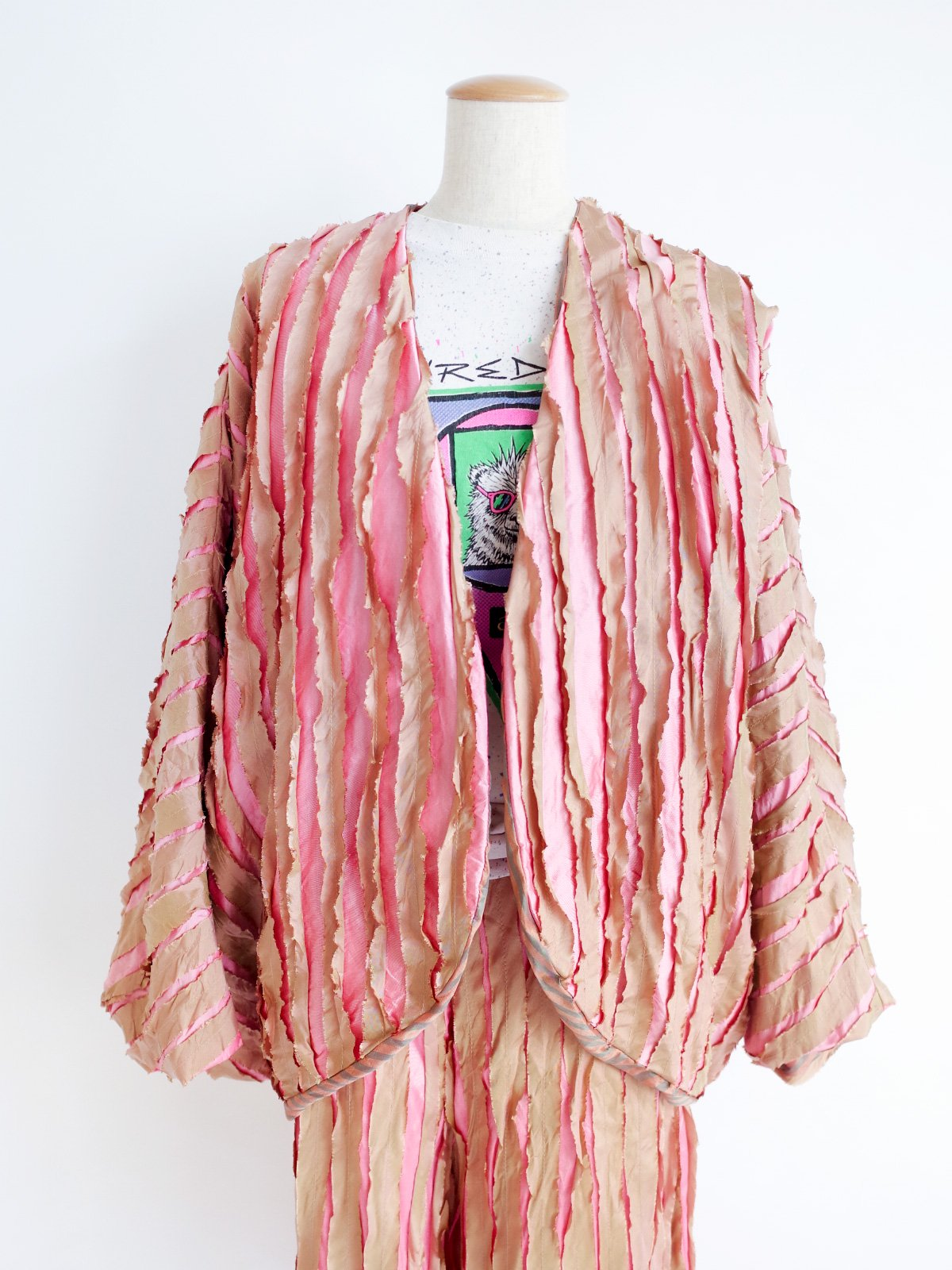 Ribbon Jacket / pink mix
