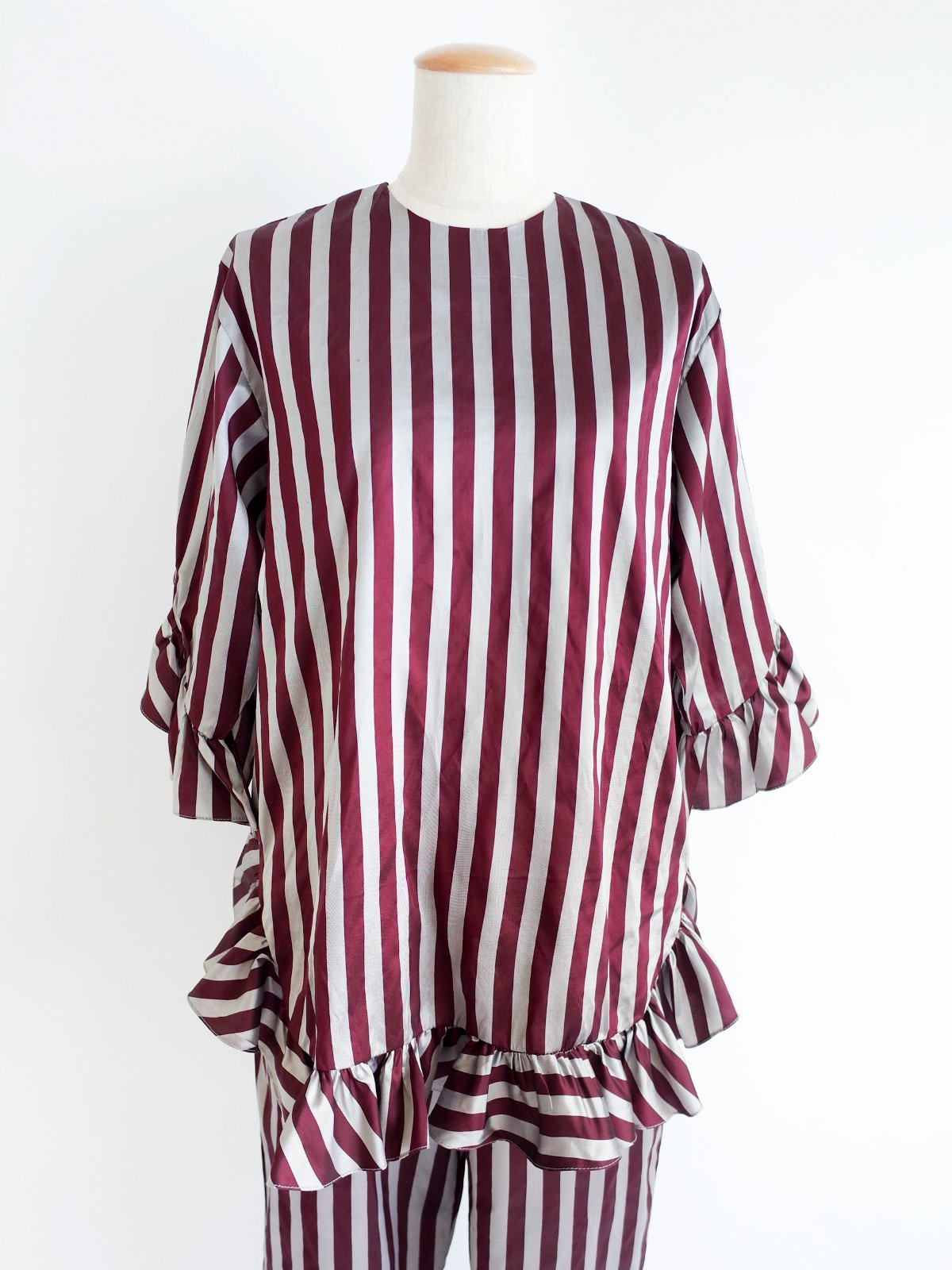 Fin Frill Tops / original bordeaux