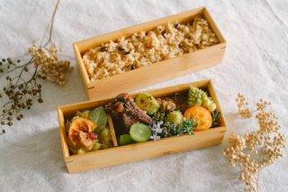 国産竹で作ったお弁当箱(たて長2段)
