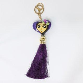 メルカドバッグ  チャーム - 紫