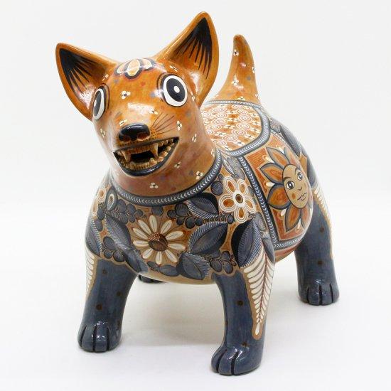 コリマ犬 陶器の置物 -太陽と月-