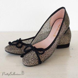 Pretty Ballerinas ローヒール メッシュ パンプス グリッター ドット バレエシューズ Rosamund 48.014