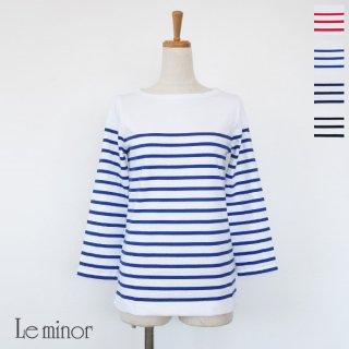 Le minor (ルミノア) パネルボーダー 7分袖 カットソー MARINIERE ML 61453MD51 / LEF995003
