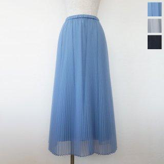 Dignite collier (ディニテコリエ) プリーツ スカート オーガンジー ロング ウエストゴム TK-809534 ◆