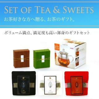 ハリオ製耐熱ガラスの急須 お茶とお菓子のセット 人気シリーズ全部入り teapot-set-07
