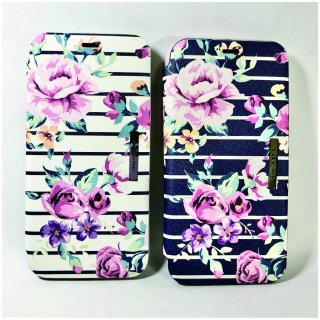 【iPhone X/XS】薄型PU手帳型ケース Primavera Collection