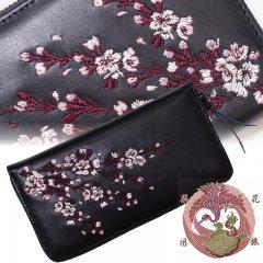 SLWL-501  桜刺繍レザーウォレット