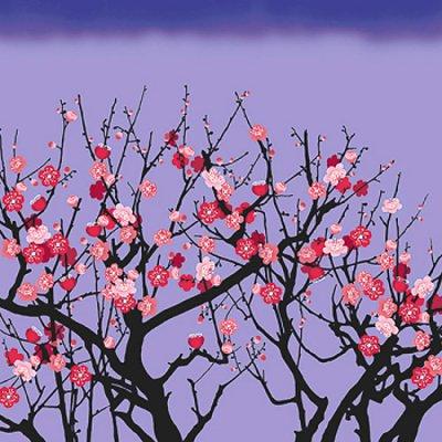 超撥水ふろしき ながれ 梅の花