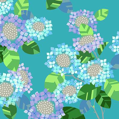 超撥水ふろしき ながれ 紫陽花