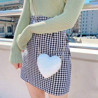 [Sucre bonbon]ギンガムチェックフリルスカートパンツ