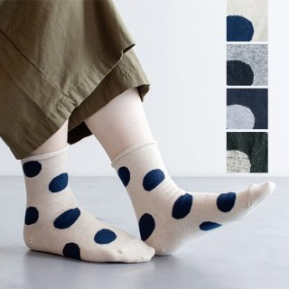 Cotton Linen Dot Socks