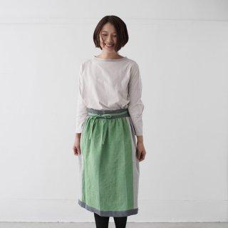 エプロンスカート apron skirt(グリーン)