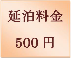 延泊料金 500円