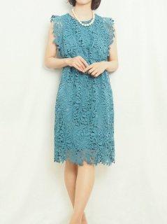 ケミカルレースドレス(ターコイズブルー)【DR0428】