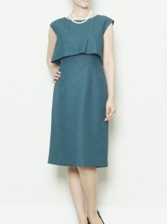 花柄ジャガードタイトドレス(グリーン)【DR0311】