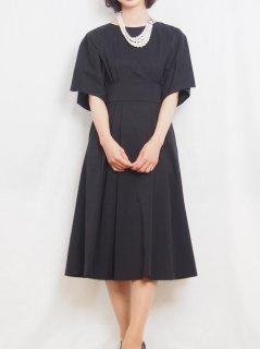 ミディ丈ドレス(ブラック)【DR0423】