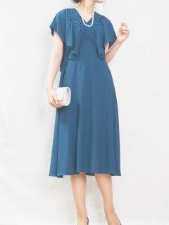 カナディアンスモッグドレス(ブルー)*【DR1011】