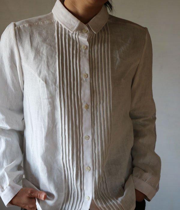 ピンタック袖レースシャツの写真