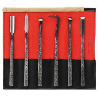 【盆栽 鋏】特上共柄彫刻刀 6点セット/盆栽 盆栽道具/鋏 はさみ ハサミ