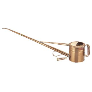 銅製盆栽ジョーロ 2号 縦取手 / Copper watering can vertical handled type 1.8L