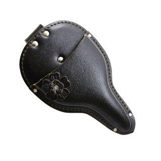 花付大久保鋏ケース 黒 / Garden shears leather case