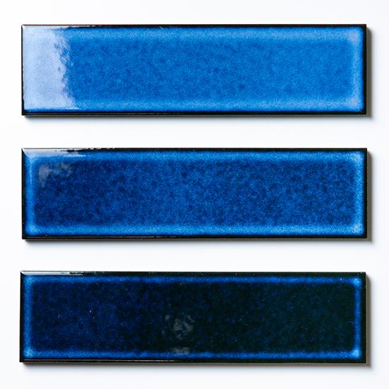 ブルー|二丁掛(ケース)@33,000円/平米 焼き物の風合いむらタイル 青むらタイル 二丁掛(ケース) | 人気No1 タイル通販のタイルメイド