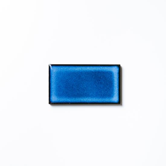 オリジナルタイル通販のタイルメイド 焼き物の風合いむらタイル 青むらタイル 小口(ケース)