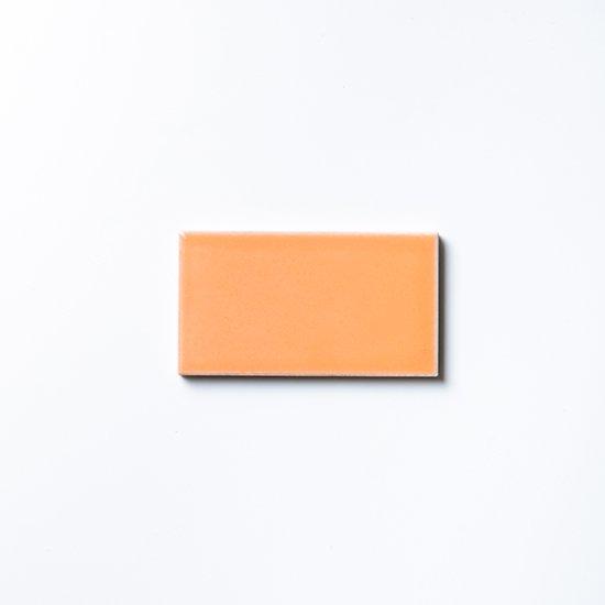 オリジナルタイル通販のタイルメイド 欧米風ふんわりタイル オレンジ 小口(ケース)