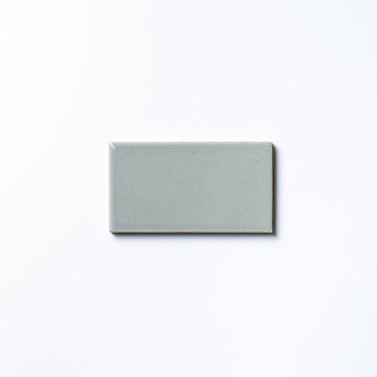 オリジナルタイル通販のタイルメイド 欧米風ふんわりタイル グレー 小口(ケース)