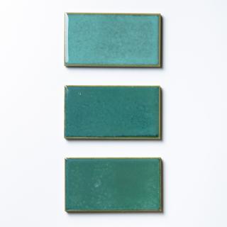 【サンプル請求】焼き物の風合いむらタイル 緑むらタイル 小口|オリジナルタイル通販のタイルメイド