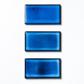 【サンプル請求】焼き物の風合いむらタイル 青むらタイル 小口|オリジナルタイル通販のタイルメイド