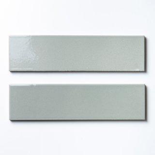 【サンプル請求】欧米風ふんわりタイル グレー 二丁掛|オリジナルタイル通販のタイルメイド