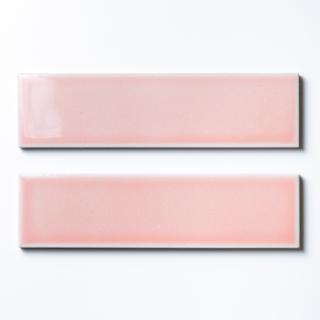 【サンプル請求】欧米風ふんわりタイル ピンク 二丁掛|オリジナルタイル通販のタイルメイド