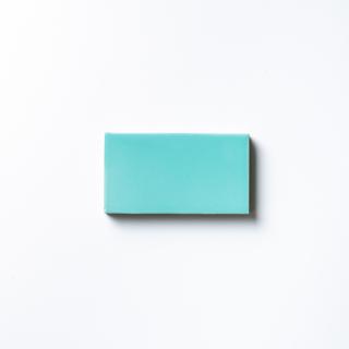 【サンプル請求】エッジが効いた個性派タイル ターコイズブルー 小口|オリジナルタイル通販のタイルメイド