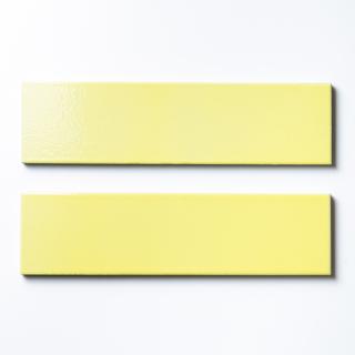 【サンプル請求】エッジが効いた個性派タイル イエロー 二丁掛|オリジナルタイル通販のタイルメイド