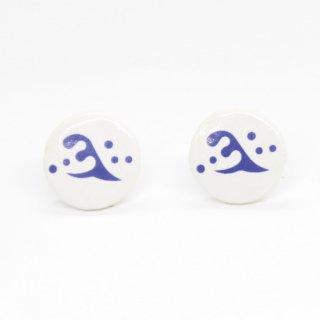斎藤道三ピアス(青色) タイル通販のタイルメイド|タイルメイドおすすめオリジナルタイル