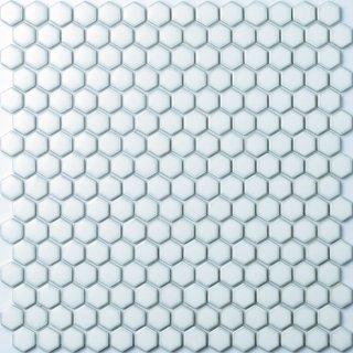 ヘキサゴン レトロホワイトタイル 15シート入|オリジナルタイル通販のタイルメイド