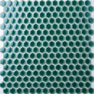 ヘキサゴン グリーンガラスタイル 15シート入