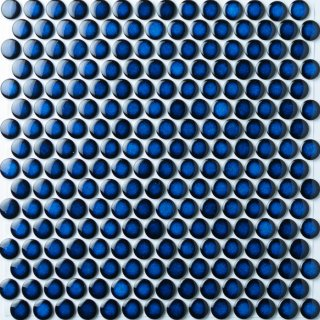 19mm丸 青むらタイル 15シート入|オリジナルタイル通販のタイルメイド