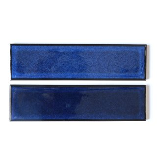 レトロタイル 深青むら 二丁掛(ケース) タイル通販のタイルメイド|タイルメイドおすすめオリジナルタイル